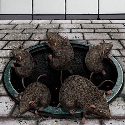 Halloween Rats in Drain Floor - 40cm Halloween Decoration