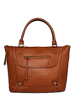 F&F Washed Faux Leather Tote Bag