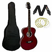 Tiger Red Acoustic Guitar Package