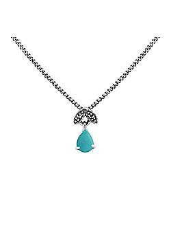 Gemondo Sterling Silver 0.25ct Turquoise & Marcasite December 45cm Necklace
