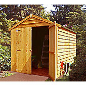 8x6 Apex Shed in Overlap with Double Doors by Finewood