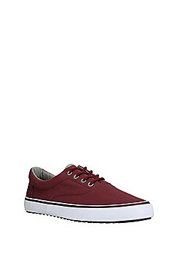 F&F Lace-Up Canvas Shoes - Burgundy