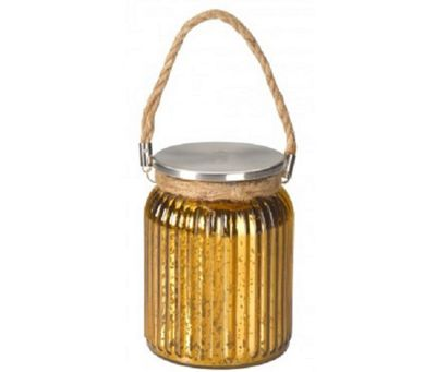 Gold Stellar Battery Operated Jar Lantern