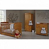 OBaby Winnie the Pooh Premium Single 4pc Room Set (Country Pine)
