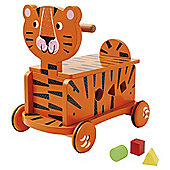 CAROUSEL WOODEN TIGER RIDE ON