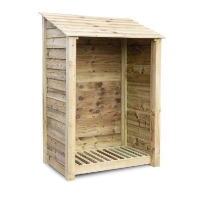Greetham wooden log store - 6ft