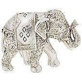 Spirit - Indian Elephant Decorative Ornament - Silver