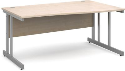 DSK Momento 1600mm Right Hand Wave Desk - Maple