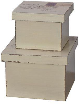 Postcard Set Of 2 Lidded Boxes
