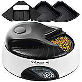 Andrew James Automatic Pet Feeder 4 Day/Portion Capacity and Voice Recorder - Granite Grey