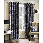 Oxford Street Ready-Made Eyelet Curtains - Silver