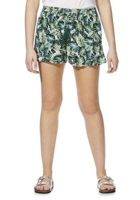 F&F Palm Leaf Print Beach Shorts Green 20