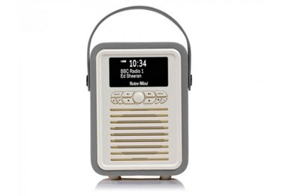 VQ Retro Mini Dark Grey DAB+/FM Bluetooth Radio