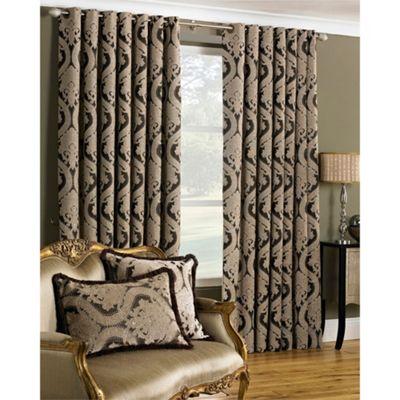 Riva Home Renaissance Mocha Eyelet Curtains - 66x72 Inches (168x183cm)