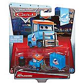 Disney Pixar Cars Diecast Luke Pettlework with Tires & Tool Cart