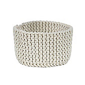 Homescapes Basket - Knitted - Off White - 37 x 21 cm