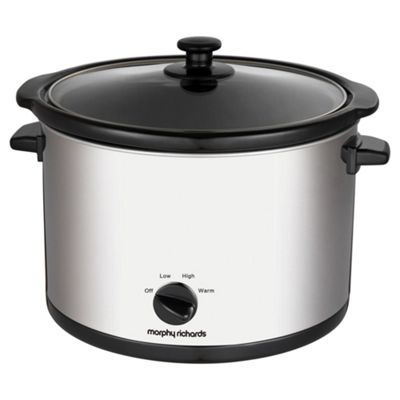 Morphy Richards 461006 5L Round Slow Cooker - Silver