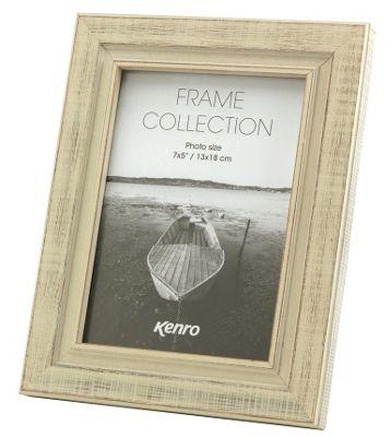Kenro Emelia Distressed White Photo Frame to hold a 6x4