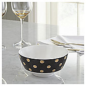 Fox & Ivy Large Black & Gold Bowl