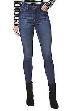 F&F Contour Push-Up High Rise Skinny Jeans - Mid wash