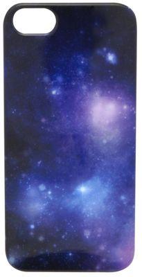 Tortoise™ Look Hard Case iPhone 5 Cosmic Print Purple
