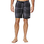 Speedo Checked Swim Shorts - Grey