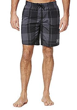 Speedo Checked Swim Shorts - Grey