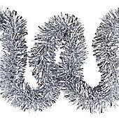 6m Silver Chunky Cut 10cm Christmas Tree Tinsel