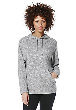 F&F Marl Brushed Fleece Hoodie - Grey