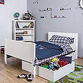 Jango Single Storage Bed - White