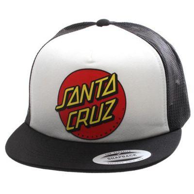 Santa Cruz Cap Classic Dot Mesh - White/Black