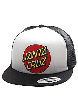 Santa Cruz Cap Classic Dot Mesh - White/Black - Black