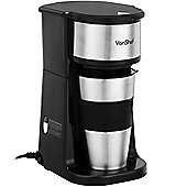 VonShef One Cup Personal Filter Coffee Machine with 420ml Travel Mug & Lid