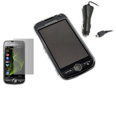 iTALKonline Crystal Case, Screen Protector and Car Charger - For I8000 Omnia 2