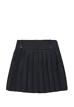 F&F School Permanent Pleat Kilt Skirt - Navy