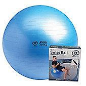 Fitness-Mad Swiss Ball, Pump & DVD Blue 75cm