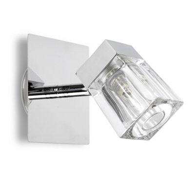 IP44 Ice Cube Single Bathroom Spotlight, Chrome