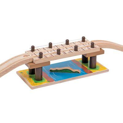 Bigjigs Rail Safari Rope Bridge - Other Major Wooden Rail Brands are Compatible