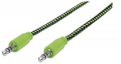 Manhattan 352840 1m 3.5mm Black Green audio cable