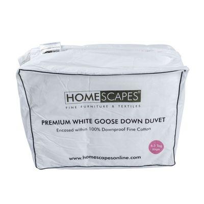 Premium White Goose Down 4.5 Tog Single Size Summer Duvet