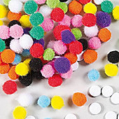 Pom Poms with Self Adhesive Pads (Pack of 200)