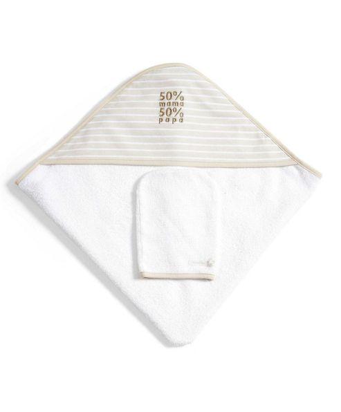 Mamas & Papas - 2 Pack Hooded Towel & Mitt - Natural