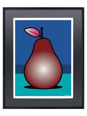 Red Pear Gloss Black Framed Mini Poster 40x50cm,