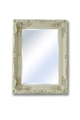 Large Ivory/Cream Decorative Antique Ornate Wall Mirror 4Ft X 3Ft 122Cm X 91Cm