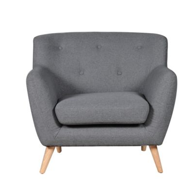 Sofa Collection Carson Fabric 1 Seat Sofa - Dark Grey