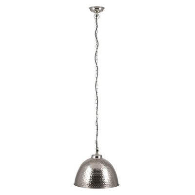 Nickel Hammered Electrified Ceiling Pendant Light Industrial Style