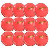 12 Pack x Aero Incrediball Club Cricket Balls Pink Youth
