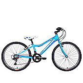 "Tiger Angel 24"" Wheel Junior Mountain Bike Blue White"