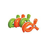 Dreambaby Stroller Clip 4 Pack 2 Green and Orange