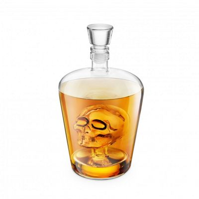 Final Touch Brainfreeze Skull Decanter Ideal For Vodka Whiskey, Scotch, Rum Tequila 1 Litre FTA1864